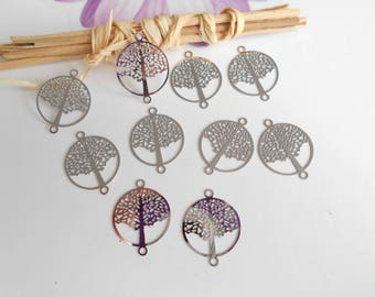 lot 10 silver tree of life prints 2 x 1, 5 cm