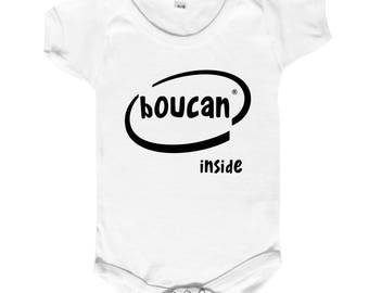 """OM humor """"noise inside"""" Bodysuit 100% fun."""