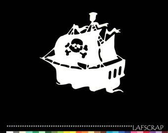 1 pirate boat scrapbooking cutting cut paper embellishment die cut creation