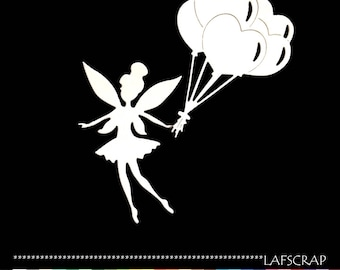 scrapbooking fairy wing balloon birthday heart cutouts cut paper embellishment die cut creation