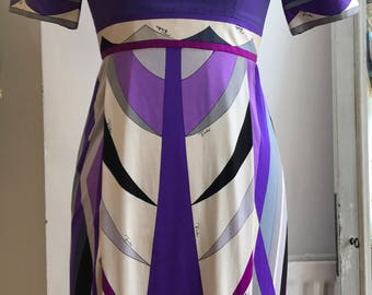 Highly Collectible Emilio Pucci Dress / Vintage / Collectible / Emilio Pucci / Collectible Item / 1960 / 1960's Vintage / 8 - 10