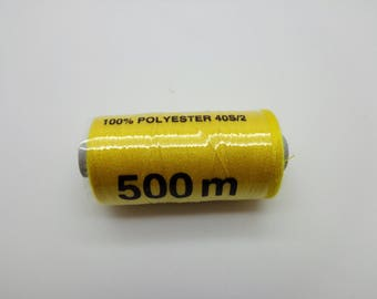 500 polyester sewing thread m lemon yellow