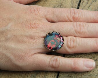 ring cabochon flower