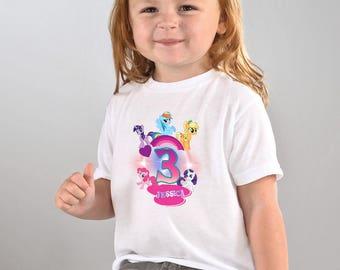 My Little Pony Birthday Shirt,My Little Pony Custom Shirt,Personalized My Little Pony shirts, My Little Pony family shirts,Birthday t-shirts