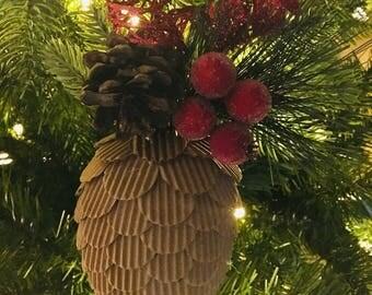 Faux Pinecone Ornament