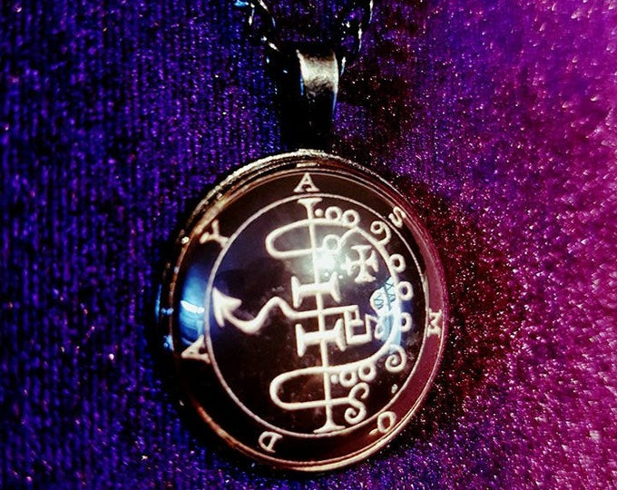 Asmoday sigil necklace - asmoday asmodeus occult demonolatry lefthandpath demonic gothic blackmagic