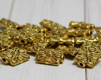 20pcs - 12x9mm - Gold Beads - Metal Beads - Antique Gold - Gold Spacer Beads - Gold Spacers - Alloy Beads - (2159)
