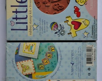 Baby theme rubber stamps set