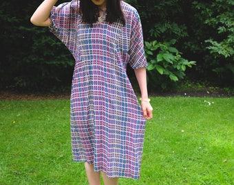 Elevint Japanese Multi-Color Batwing Bohemain Chiffon Dress