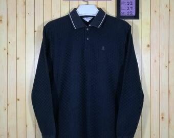 Vintage Lanvin Sport Shirt Long Sleeve Black Colour Size L Made Japan Supreme Numbernine Yohji Yamamoto