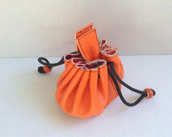 Purse - Orange velvety