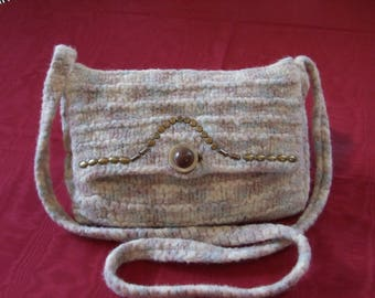 Felted wool with shoulder pouch