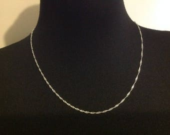 Twisted chain Silver 925 49cm