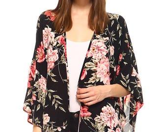 Vaneul Studio's Beautiful Floral Kimono Tops
