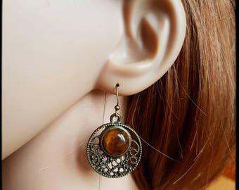 Tiger eye earrings