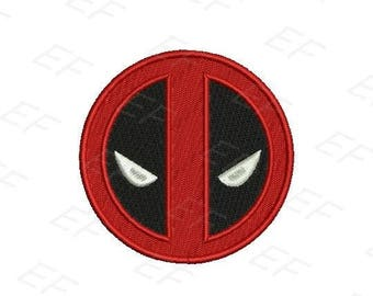Machine Embroidery design - Deadpool Embroidery design - instant download digital file