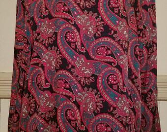 Vintage Talbots Paisley Blouse Size 18