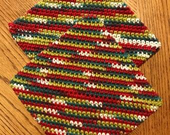100% Cotton Crochet Potholders/Hot Pads/Pot Holders