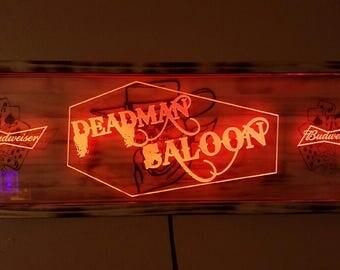 Acrylic and Wood LED Shadow Box Sign