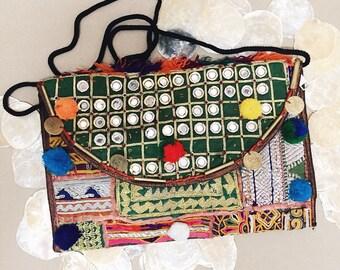Embroidered Banjara bag, Afghani bag, Banjara bag, Indian bag, Indian Clutch Bag, boho crossbody bag, bohemian bag, colourful bag, Gypsy bag