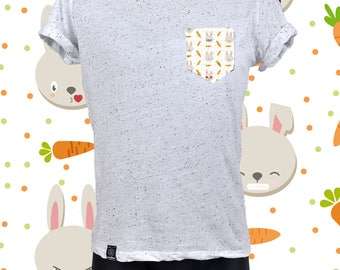 "POCKET TEE ""SPECKLED"" bunny"