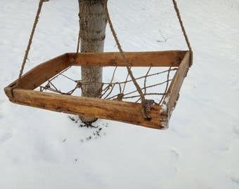 Antique Wooden Cradle Hand Sawn Crib Rocking Baby Bed Collectible Photography Prop rural decoration baby cradle hanging cradle wooden bowl