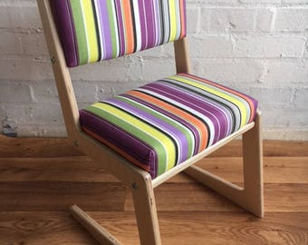 Stylish contemporary hand made Upholstered child's chair