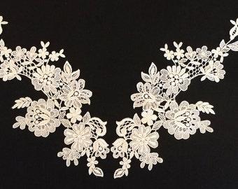 Venice Lace Bodice Applique-Set-Off White-40