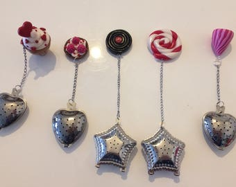 The different patterns in polymer clay balls, sold individually