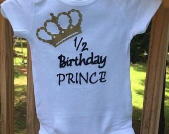 Half birthday and birthday shirt