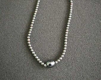 7. Genuine Hematite Necklace