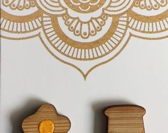 Egg & Toast Wooden Stud Earrings