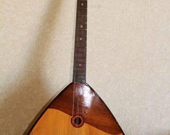 VINTAGE BALALAIKA Russian Folk Instrument 6string USSR Chernigov Musical Factory