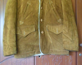On Sale !!! Vintage Schott NYC Brown Leather Jacket//Motorcycle Jacket//Made in USA//Size 36