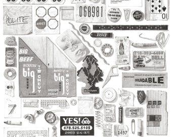Illustrated Garbage of Brooklyn Print