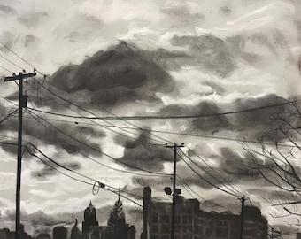 "Matted Fine Art Print ""Walking Home"""