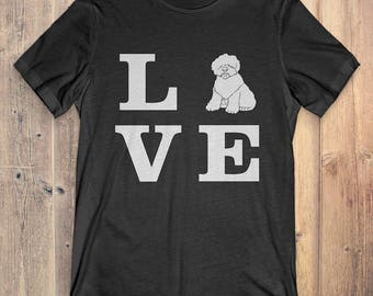 Old English Sheepdog Dog T-Shirt Gift: I Love Old English Sheepdog