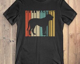 Bullmastiff Dog T-Shirt Gift: Vintage Style Bullmastiff Silhouette