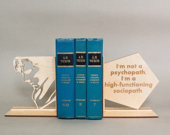Sherlock Holmes handmade bookends. Nursery decor. First birthday gift. Baby present idea