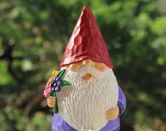 Custom Painted Gnome Statue