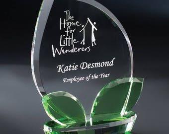 """Crystal Nurture Recognition Award 5 1/4""""W x 8""""H CNRT508"""