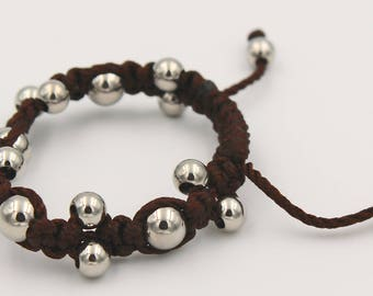 Hematite Beads Bracelet Brown