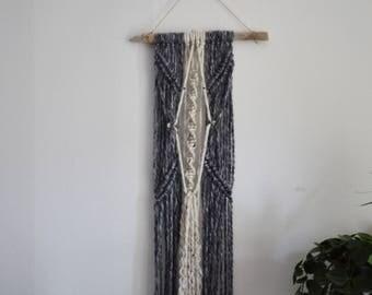 Fait à la main en macramé tenture coton tapisserie Boho bois flotté