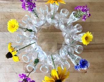 Glass Bud Vase Wreath - Vintage Vase
