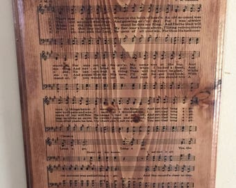 Old church hymn wood wall plaques