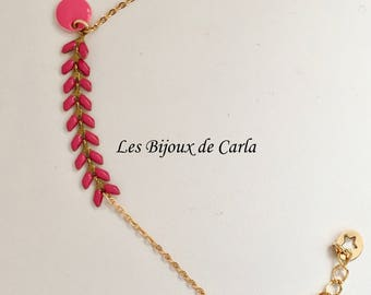 Bracelet chain Spike and sequin enamelled
