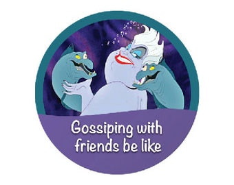 Ursula and Eels Button - Disney Villain Button - The Little Mermaid Button - Sea Witch Button - Disney Park Button - Park Pin
