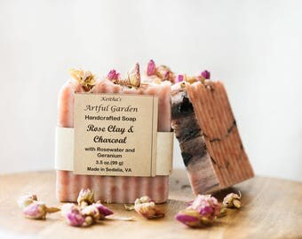 Rose Clay & Charcoal Soap