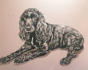 Bespoke custom made Pet Portrait