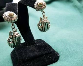 Barry Kieselstein cord Sterling/14kt frog earrings